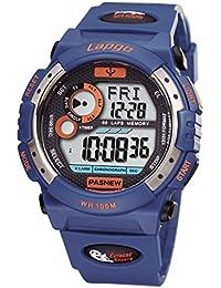 Reloj electrónico multifunción / relojes luminosos / reloj masculino / relojes impermeables / corriendo / al aire libre de los deportes , deep blue n3