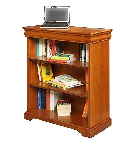 wooden-bookcase-in-louis-philippe-style-with-shelves-office-fruniture-living-room