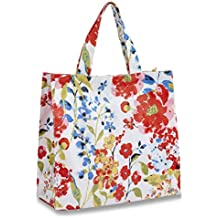 COOKSMART - Borsa in PVC con motivo fiori romantici, multicolore, piccola