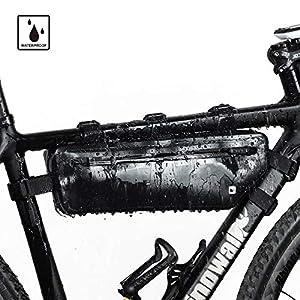 51Rhz839vgL. SS300 Selighting Borsa Bici,Borsa Triangolare da Bicicletta Telaio 100% Impermeabile Borsa Frontal Sacchetto per Casual…
