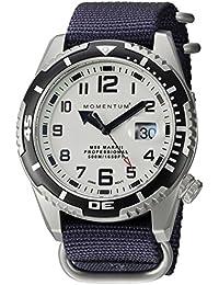 Momentum M50Mark II 'de los hombres de cuarzo acero inoxidable y nailon reloj de buceo, color: azul (modelo: 1m-dv52l7u)