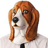 Carnival Toys - Máscara de látex perro basset hound en bolsa con encabezado, multicolor (1406)