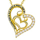 Best Cuore a cuore bambino regalo - LOVORDS Collana Donna Incisa Argento Sterling 925 Pendente Review