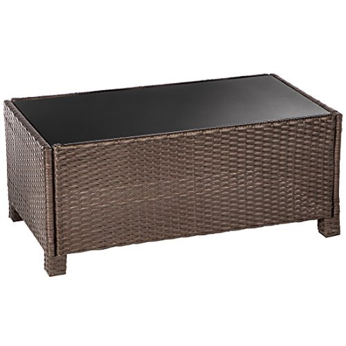 Ultranatura Poly-Rattan Lounge Sitzgruppe, Palma-Serie 4-teilig / Tisch + Couch + 2 Sessel inklusiv Auflagen - 4