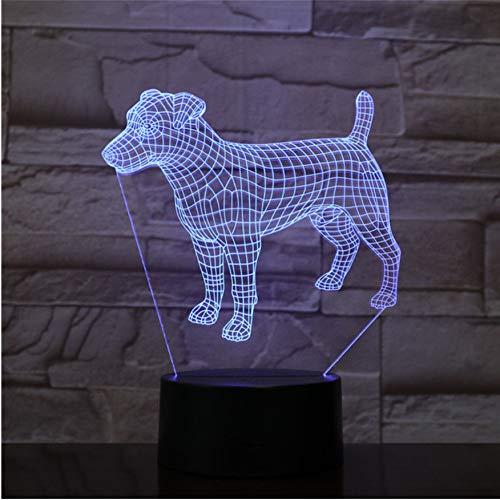 3D Visuelle Illusion Lampe Pudel Jack Russell Terrier Rottweiler Dobermann Kinder Nachtlicht Hund Stil Lampe