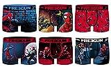 FREEGUN Boxer Homme DC Comics, Marvel, Avengers, Superhéros -Assortiment modèles Photos Selon arrivages- (Small, Pack de 6 Boxers Spiderman act2)