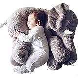 ZEARO Almohada de Felpa Elefante Peluche Animal Cojin para Bebé y Niños