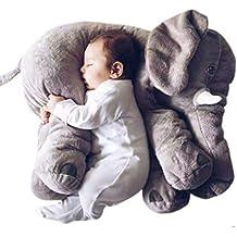 zearo - almohada de peluche suave de elefante para bebé,Cojín Lumbar, 2tallas