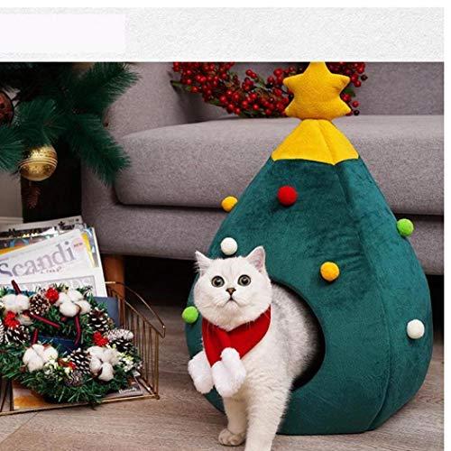 CULER Gato Navidad Fieltro Cueva Cama Forma árbol