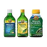Möllers Omega-3 Familienpaket - Omega 3 Öl (2 x 250ml & 112 Kapseln)