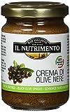 IL NUTRIMENTO Olivenpaste aus Schwarzen Oliven, 3er Pack (3 x 130 g)