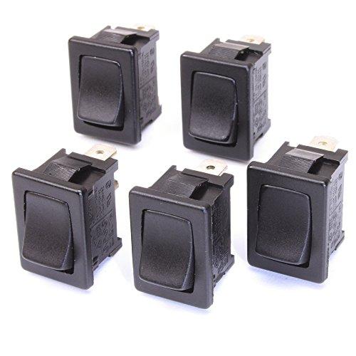 5pieza empotrable de interruptor basculante 1pines on off 10(4) a de 250VAC