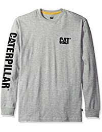 Caterpillar Kingsize Trademark Banner L/S T-Shirt Heather Grey