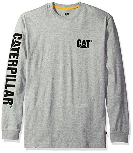 Caterpillar Cat Longsleeve, Schwarz, Größe XL Grau