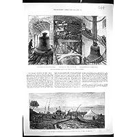 1882 Sun Sohag Nilo Egitto di Eclissi della Stazione della Cattedrale di St Paul del Campanile di Grande