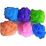Ganga Combo Of 6 PCs Big Bath Loofah/Sponges/Scrubber/Puff/Luffa/Flannel (Colors May Vary)