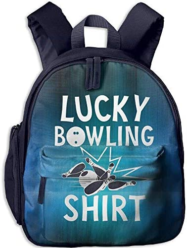 Lucky Bowling Shirt Toddler Mini Backpack Backpack Backpack Shoulder Schoolbag With Front Pockets | Eccellente valore