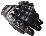 #7: Probiker New Fashion Cycling Bike Bicycle Motorcycle Shockproof Foam Padded Outdoor Sports Full Finger Gloves Riding Gloves Of Leather (Black, XL) By R.P.M Sport