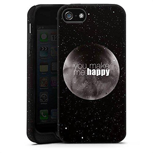 Apple iPhone X Silikon Hülle Case Schutzhülle Happy Mond Love Tough Case matt