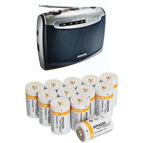 Philips AE2160/04 Radio Portable + AmazonBasics Lot de 12 piles