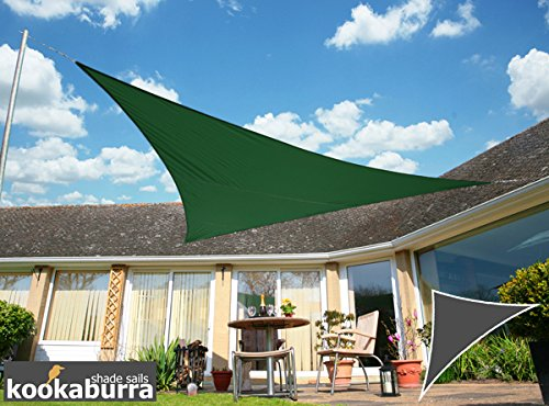 Kookaburra Voile d'Ombrage Imperméable 6,0m × 4,2m Triangle Rectangle Vert