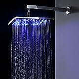GAO® testa del rubinetto di rame LED soffione doccia singolo con lampada doccia creativa scaldabagno becco cascata rubinetto lavabo cromo,With lights