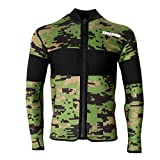 FLAMEER Muta Giacca Jacket per Campeggio Neoprene Subacquea Immersioni Surf Canoa Kayak Wetsuit Top - Verde, M
