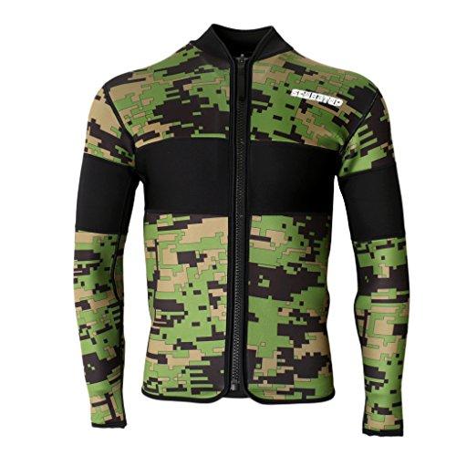 Sharplace Männer 2,5mm Neopren Jacke Wassersport Sonnenschutz Shirt - XXL