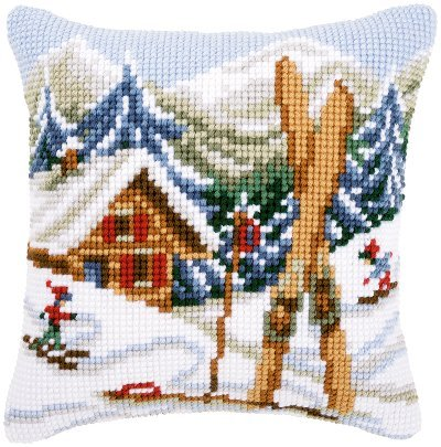African Rhino Chunky Cross Stitch Cushion Front kit 40x40cm By Vervaco