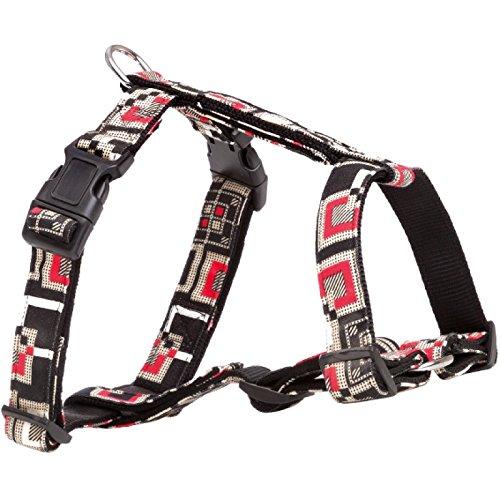 11128-Hunde H-geschirr Modern Art Costa schwarz