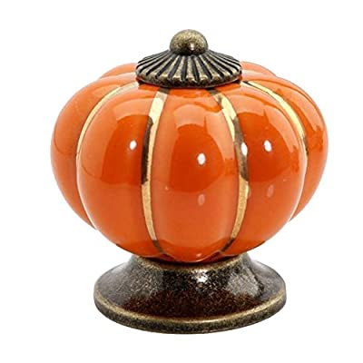 RuiChy Ceramic Handle Pull Knobs Cabinet Pumpkin Door Cupboard Drawer Locker 10-PACK - low-cost UK light store.