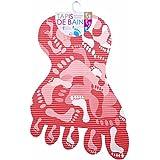 Promobo -Tapis De Bain Antidérapant Décor Tendance Design Empreintes Pieds Rouge