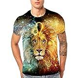 Covermason ❤️ Homme Tee Shirt Impression 3D à Manches Courtes Col Rond Tops Eté T-Shirt Top Blous