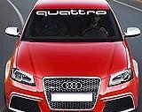 UUSticker Audi Quattro Aufkleber Frontscheibe Decal Stoßstange RS S Line Quattro Gecko