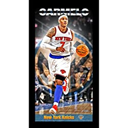 NBA New York Knicks Carmelo Anthony reproductor perfil pared arte 9,5 x 19 foto enmarcada