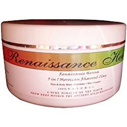 Rhassoul Clay Natural Exfoliator & Pore Cleanser, Pore Cleansing Mask + Hair Mask, by Renaissance Henna