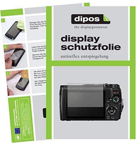 dipos I 6X Schutzfolie matt passend für Olympus Tough TG-5 Folie Displayschutzfolie (Kamera Olympus Tough 3000)