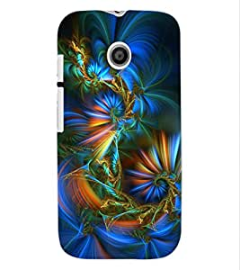 ColourCraft Abstract Image Design Back Case Cover for MOTOROLA MOTO E