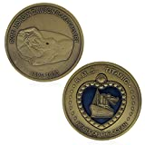 cicianco Bronze Plated Titanic RMS Heart of The Ocean Medal Commemorative Challenge Coin Craft Decor