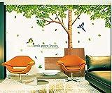Colorfulworld Baum Wandaufkleber Wandaufkleber Dschungel Wald Tier Wandtattoo Wandsticker Aufkleber DIY for Children Room Gift (1098)