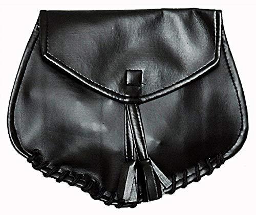 K80984740 schwarz Damen Herren Mittelalter Gürtel Tasche (Schwarze Piraten Königin Kostüm)