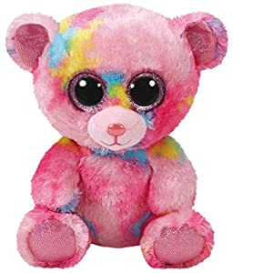Ty- Franky, Bär Bunt 15cm Peluche Oso, Color Rosa (United Labels Ibérica 36899TY)