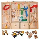Werkzeugkoffer Werkzeugkasten fuer Kinder als Ergänzung beispiel für die Kinder-Hobelbank von Holzspielzeug-Peitz