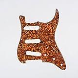 Musiclily SSS 11 foro della chitarra elettrica Stratocaster Pickguard per Fender USA / Messico Fatto Stratocaster standard Modern Style parti della chitarra, 4ply Shell Tiger Spot