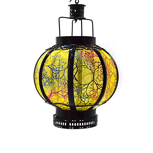 RODEREK Handgefertigte Laterne, Chinesische Traditionelle Laterne, Dekorative Kerzenlaterne, für Drinnen und draußen