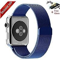 Cinturino Apple Watch,[Gratuito Schermo Bicchiere], MaKer Loop in Maglia Milanese