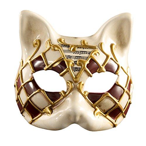 Roman griechischen venezianischen Masken Masquerade Maske Halloween Kostüm Ball Party Kleid Dekoration Supplies Kätzchen Half Face Maske mit Persönlichkeit Karneval Make Up rot