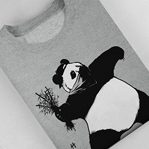 Bamboo Thrower Banksy Panda Women's Sweatshirt Heather Grey