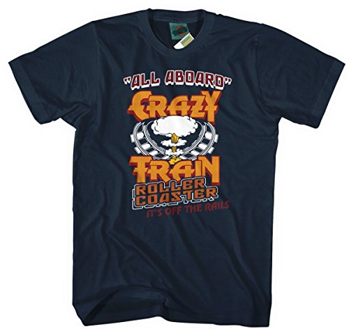 BathroomWall T-shirts OZZY Osbourne Inspired Crazy Train, Hombres...