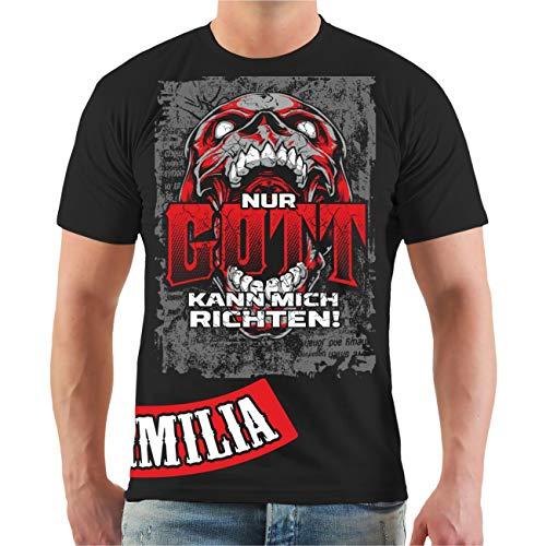 Männer und Herren T-Shirt La Familia Nur Gott kann Mich richten Größe S - 8XL